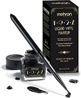 Mehron 1927 Liquid Vinyl Makeup – Long Wearing & Water Resistant Liquid with Professional Two-Piece Brush – Ultra Pigmente...