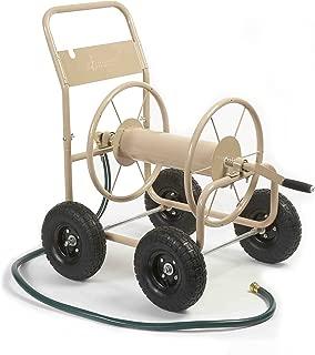 Liberty Garden 870-M1-2 Industrial 4-Wheel Garden Hose Reel Cart, Holds 300-Feet of 5/8-Inch Hose - Tan