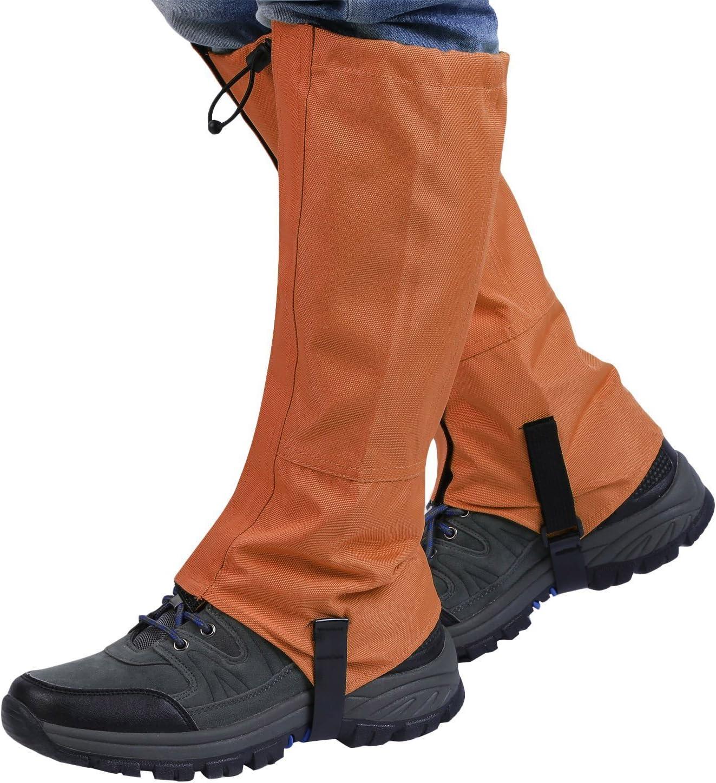 Hotour Waterproof High Leg Gaiters Rain Chaps Snow Legging Leg Cover Wraps Outdoor Climbing//Cycling Rain Pants