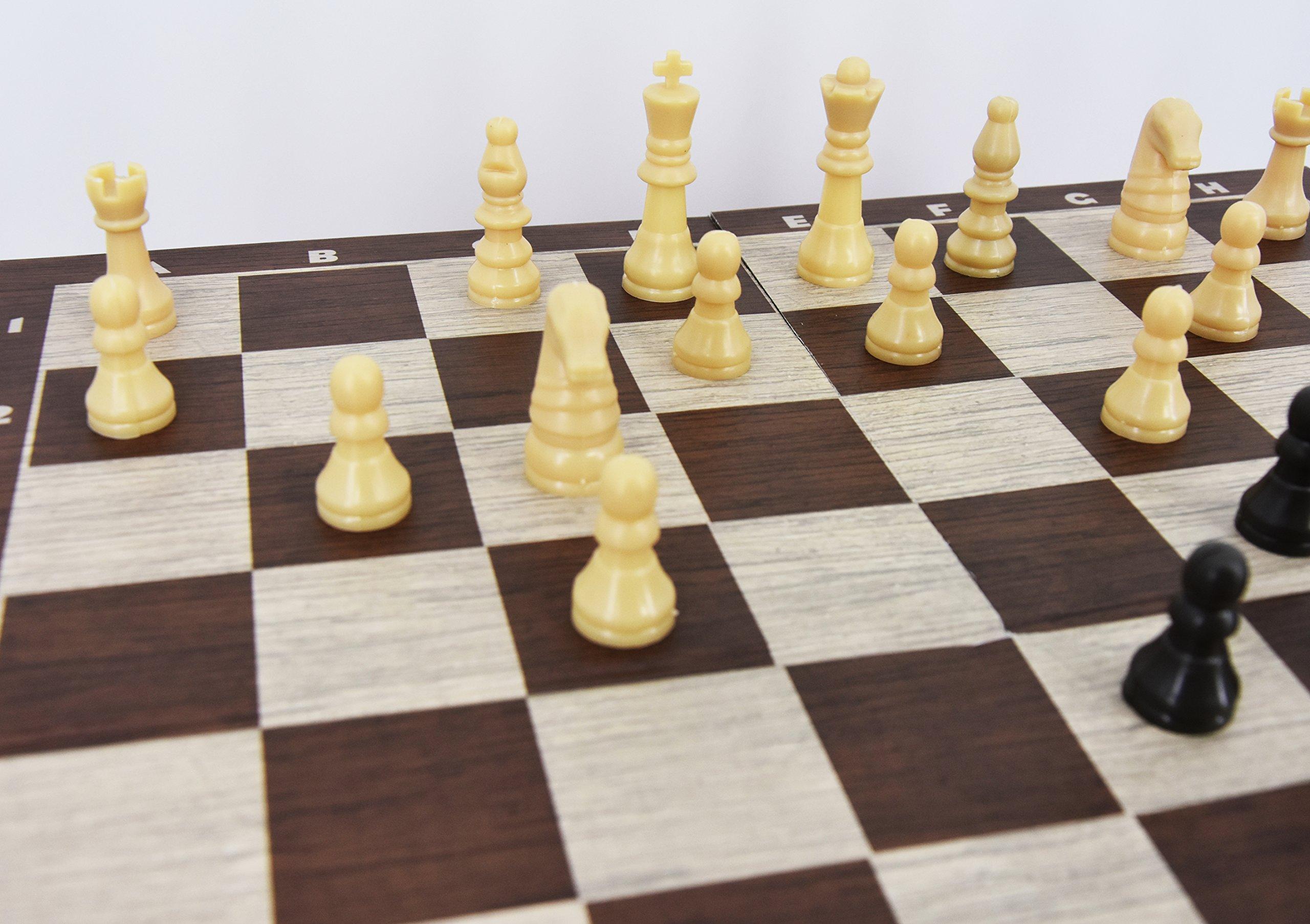Juego de mesa retro tradicional 3 en 1 Juego de ajedrez Compendium, borradores, punta tres en raya: Amazon.es: Juguetes y juegos