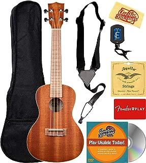 Kala KA-C Mahogany Concert Ukulele Bundle with Gig Bag, Tuner, Austin Bazaar Instructional DVD, and Polishing Cloth