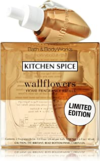 Lot of 6 Bath & Body Works Kitchen Spice Wallflower Refill Bulbs (3 Packs of 2) (Scented)