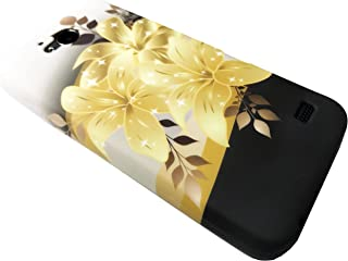 For ZTE Majesty Pro Z798BL Z799VL / ZTE Majesty Pro Plus Z899VL (2017) TPU Flexible Skin Phone Cover Case + Gift Stand (TPU Gold Lily)