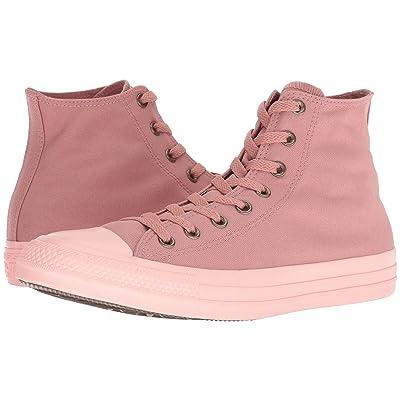Converse Chuck Taylor All Star Botanical Neutrals Hi (Rust Pink/Rust Pink/Storm Pink) Classic Shoes