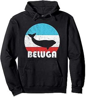 Beluga Whale Vintage Retro Silhouette Gift Pullover Hoodie