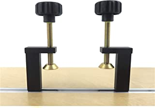 Taytools 73486 Pair 2 Each T Track Clamp Hold Down for T Track That Accepts 1/4