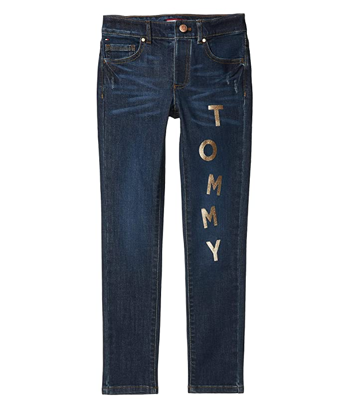 Tommy Hilfiger Adaptive  Tommy Skinny Jeans (Toddler/Little Kids/Big Kids) (Gabby Wash) Womens Jeans