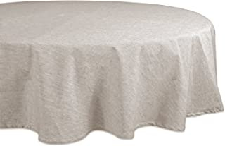 """DII 100% Cotton, Chambray Round Tablecloth, Everyday Basic, Seats 4 to 6 People, 70"""", Natural"""