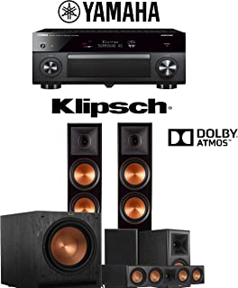 Klipsch RP-8060FA 5.1.2-Ch Reference Premiere Dolby Atmos Home Theater Speaker System with Yamaha AVENTAGE RX-A2080 9.2-Channel 4K Network AV Receiver