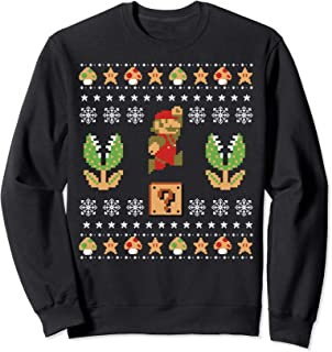 Nintendo Super Mario Piranha Ugly Christmas Sweatshirt