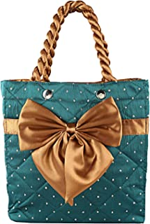 Heart Home Satin 1 Piece Women Hand Bag (Green) - CTHH10328