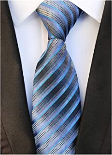 3c73cd68c840 Men's Modern Fine Stripe Silm Ties Woven Formal Business Suit Necktie by  Elfeves
