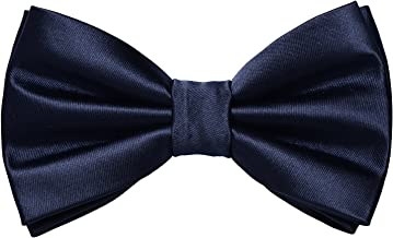Men's Classic Bow Tie Pre-tied Tuxedo Adjustable Pure Bow tie by Yakee Lemon