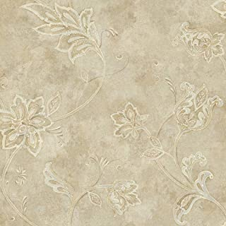 Décor Direct YWTB4249 Wallpaper, Double Roll Dimensions: 20.5 in. x 33 ft. = 56 sq.ft, Silvery Pearl, Blue, Green, Taupe
