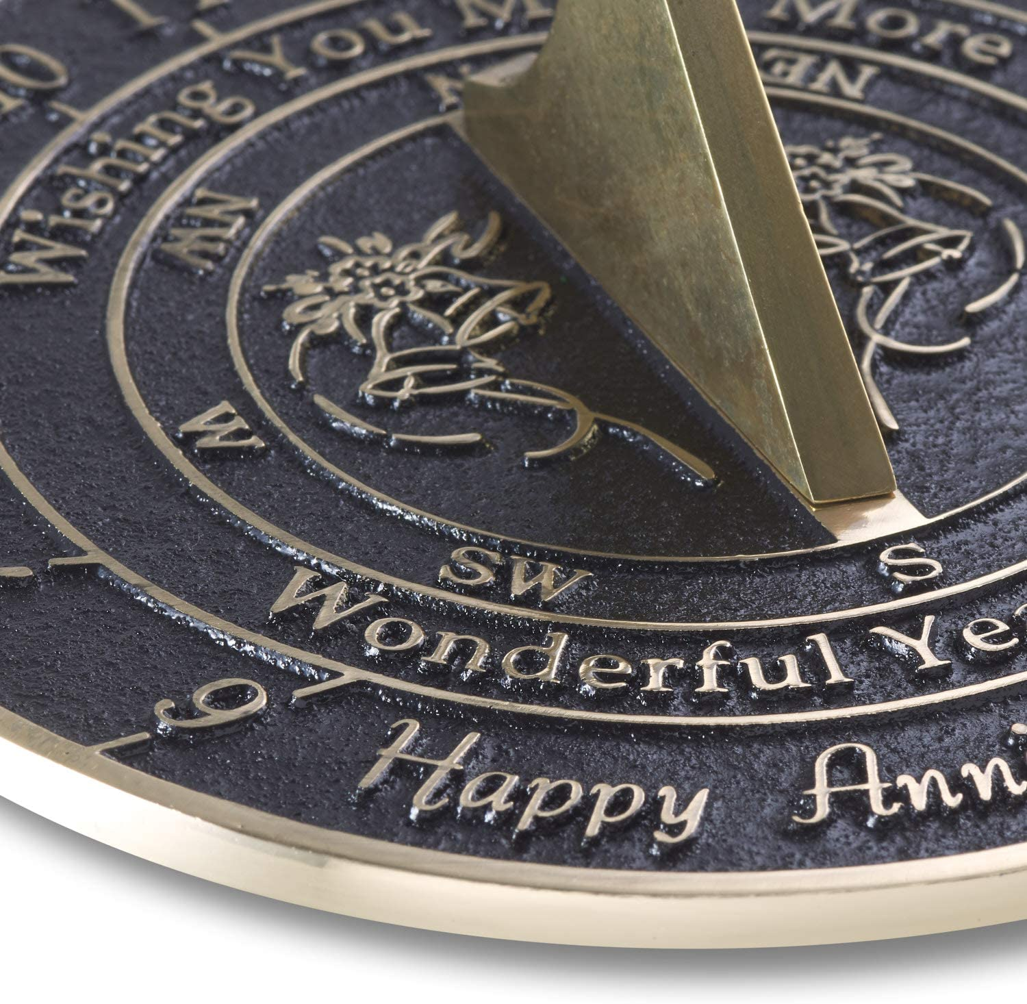 Her Solid Recycled Brass Gift Idea Is A Great Present For Him The Metal Foundry /'Wonderful Years/' 2021 Wedding Anniversary Sundial Gift Grandparents Or Couple On Any Year Of Marriage Parents