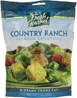 Fresh Gourmet Premium Croutons, Country Ranch, 5 Ounce (Pack of 6)