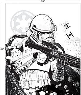 Star Wars Panel Stormtrooper Panel in White Premium Cotton Fabric by The Panel