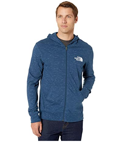The North Face Boxed Out Injected Full Zip (Blue Wing Teal Heather/TNF White) Men