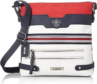 Rieker Damen H1346-15 Handtasche, Mehrfarbig (Pazifik/Bianco/Rosso), 280x60x280 cm (B x H x T)
