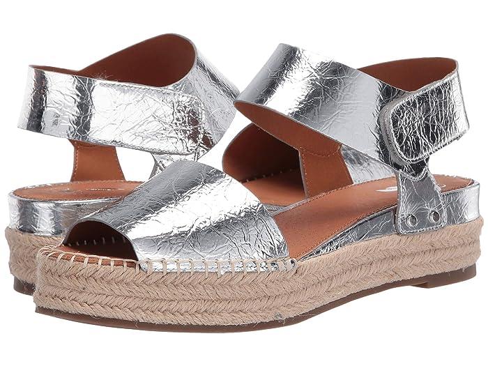 60s Shoes, Boots Franco Sarto Oak by SARTO Silver 2 Womens Sandals $77.99 AT vintagedancer.com