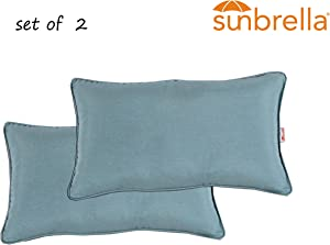 Comfort Classics Inc. Outdoor/Indoor Patio Throw Pillow Set of 2 in Sunbrella Spectrum Mist