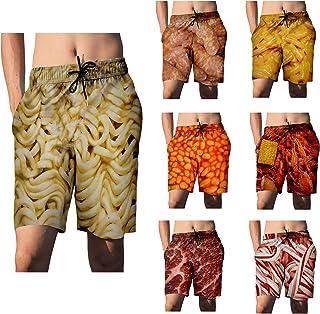 BU2H Men Beach Big /& Tall Ethnic Printed Capri Pants Harem Swim Trunk Boardshorts