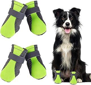 WELLXUNK® Botas para Perros, Respirable Zapatos Antideslizantes para Perros, Mascota Perro Botas para Perros Medianos y Gr...