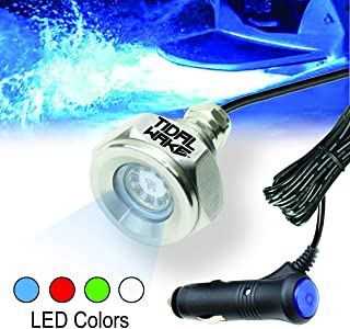 Tidal Wake Plug N' Play IP68 Underwater LED Boat Drain Plug Light, No Wiring Required, No Holes to Drill, Simply into Acce...