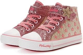 Weestep Toddler/Little Kid Girls Star Rainbow Mid Top Sneaker
