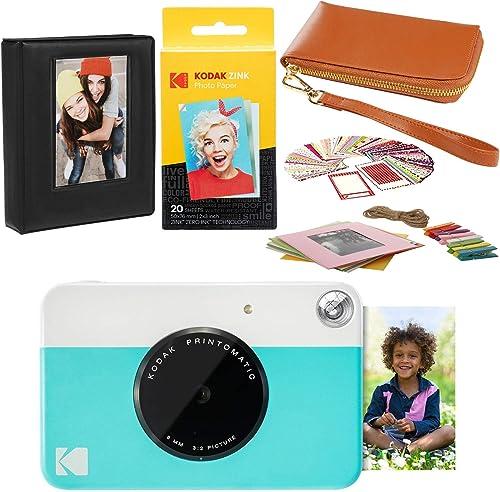 high quality KODAK new arrival popular PRINTOMATIC Instant Print Camera (Blue) Travel Case Bundle online