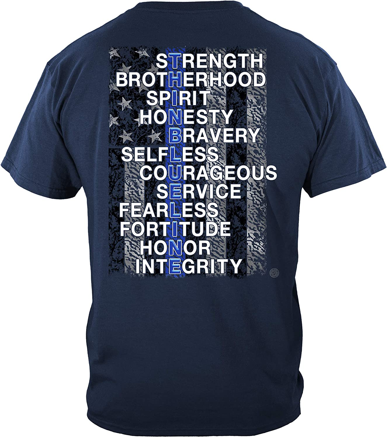 Thin Blue Line T Shirt - Free shipping Gear Max 58% OFF Enfo Men Enforcement Law for