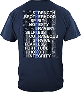 Thin Blue Line T Shirt - Law Enforcement Gear for Men - Law Enforcement - THF2312
