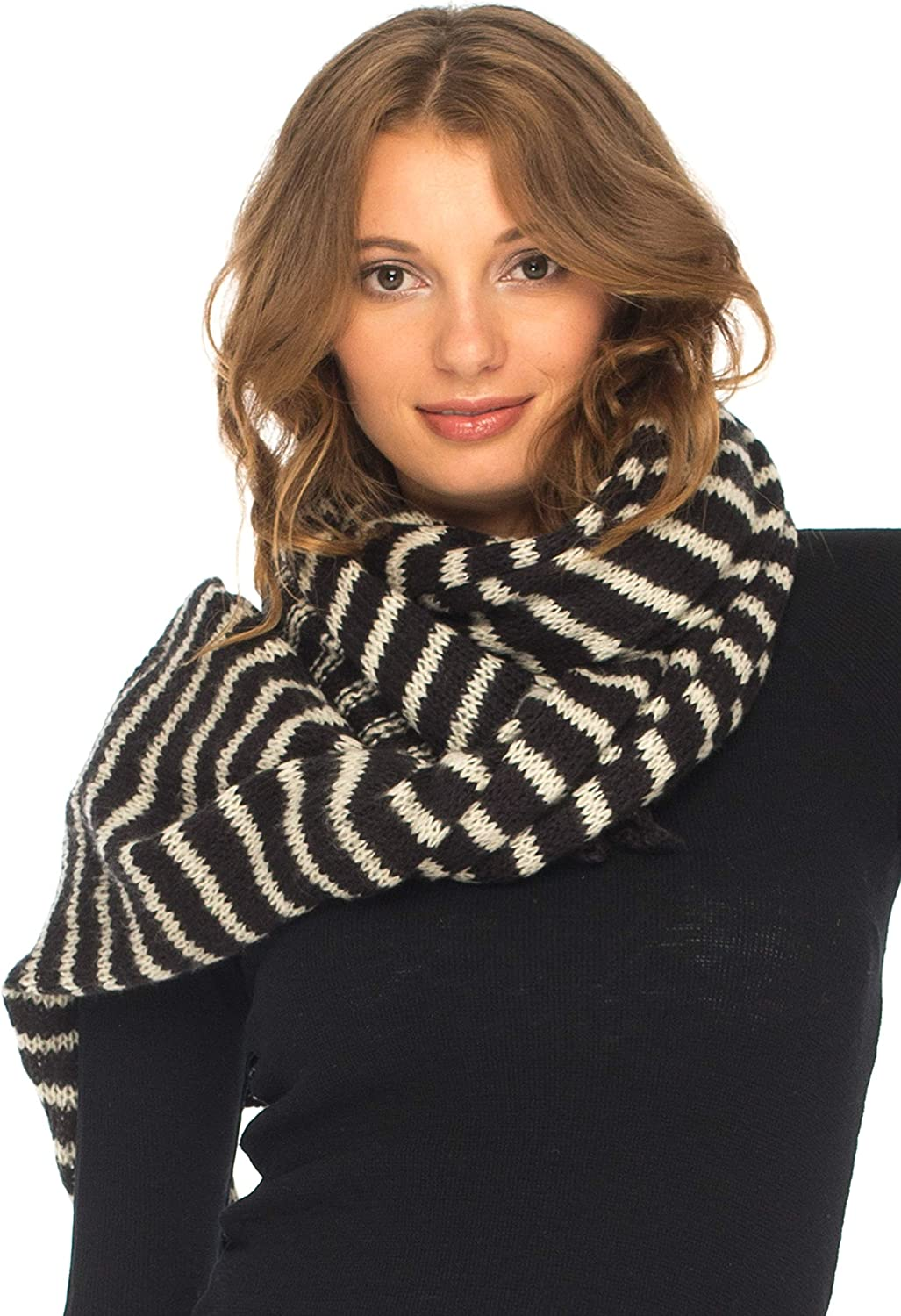 SHU-SHI New popularity Womens Oversized Striped Blanket New products world's highest quality popular Scarf Thick Shawl Wrap