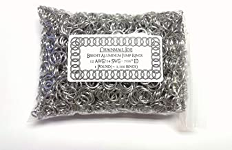 1 Pound Bright Aluminum Chainmail Jump Rings 14G 7/16