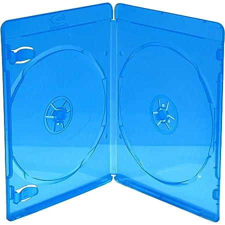 MediaRange BOX39-2-50 Blu-ray case 2discos Azul, Transparente funda para discos ópticos - Fundas para discos ópticos (Blu-ray case, 2 discos, Azul, Transparente, De plástico, 120 mm, Resistente al polvo, Resistente a rayones, Resistente a golpes)
