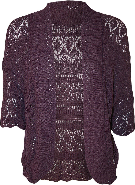Forever Womens Plus Size Crochet Knitted Baggy Shrug