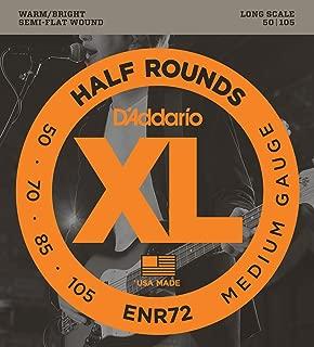 D'Addario ENR72 Half Round Bass Guitar Strings, Medium, 50-105, Long Scale
