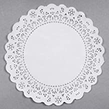 Round White Normandy Paper Doilies