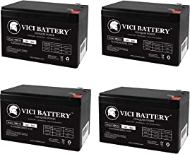 VICI Battery 12V 9AH Compatible Battery for RBC12 RBC26 RBC27 APC UPS - 4 Pack Brand Product