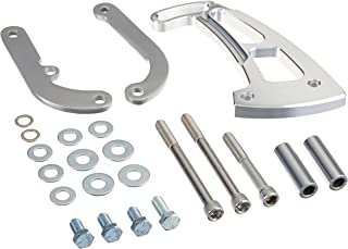 March Performance 20160 Clear Powdercoat Aluminum Front Mount Ultra Power Steering Brackets