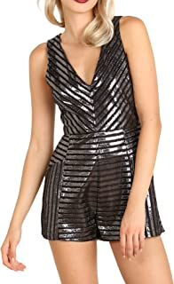 MINKPINK Glimmer of Hope Playsuit Black/Silver