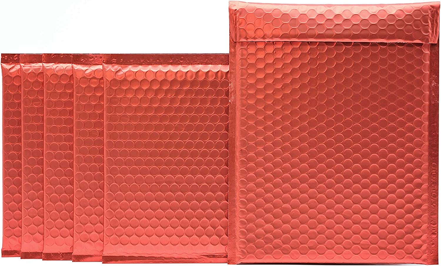 ProLine Matte New York Mall Metallic Red At the price of surprise Bubble Padded Mailers Sel 8.5x12 Inch