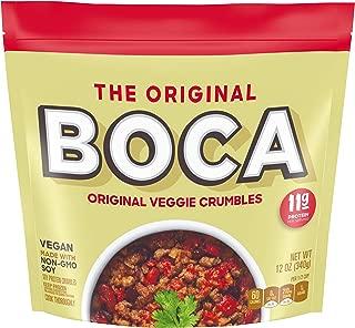 Boca Original Vegan Non GMO Frozen Veggie Crumbles (4 Count)