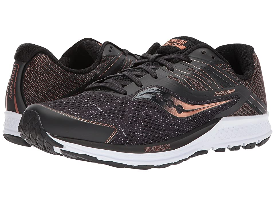 Saucony Ride 10 (Black/Denim/Copper) Men