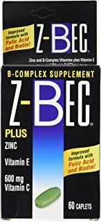 Z - Bec B-complex Supplement 60 Tablets (3 Pack)