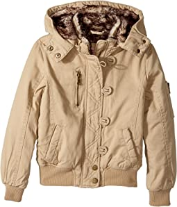 Cotton Twill Bomber with Faux Fur Lining (Little Kids/Big Kids)