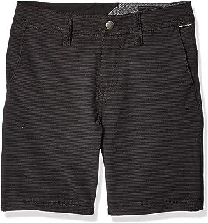 """Volcom boys Frickin Snt Slub 18"""" Hybrid 4 Way Stretch Short Little Youth Casual Shorts"""