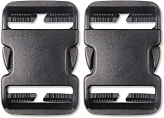 DYZD Multi-Size Plastic Buckle Repair Kit Quick Release Buckles No Sewing Required Buckles for Backpack Bag (2pcs Black,50 mm)