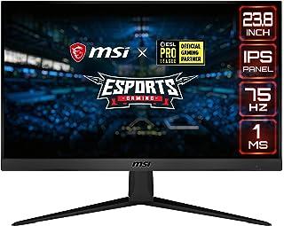"MSI 24"" FHD (1920 x 1080) Non-Glare with Super Narrow Bezel 75Hz 1ms 16:9 HDMI/DP AMD Radeon FreeSync IPS Gaming Monitor (..."