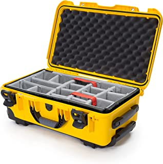 Nanuk 935 Waterproof Carry-On Hard Case with Wheels and Padded Dividers - Yellow - Made in Canada